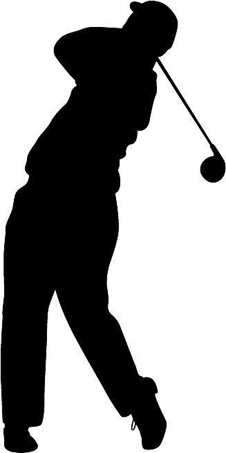 327x655 Golf Silhouette Die Cut Vinyl Decal Sticker. You Pick Color