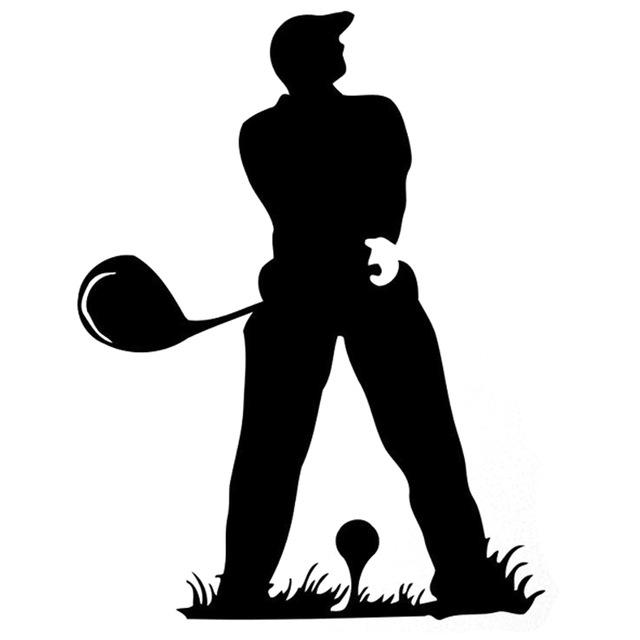 640x640 12.8cm16.7cm Fashion Golf Silhouette Fitness Sports Blacksilver