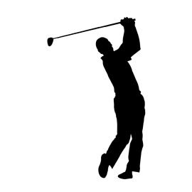 270x270 Golfer Silhouette 03 Stencil Free Stencil Gallery