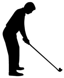 269x330 Golfer Silhouette 7 Decal Sticker