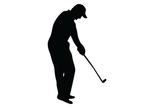 500x350 Lovely Golfer Silhouette Vector Free Golf Player Download