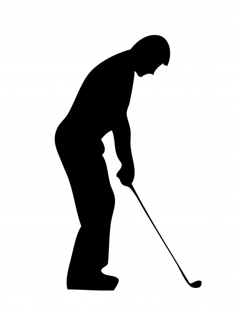 470x615 Golf Player Silhouette Clipart Free Stock Photo