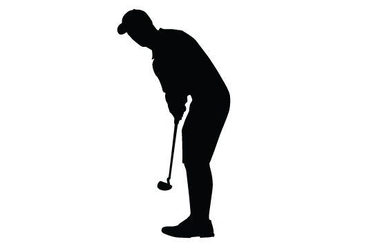 550x354 Golf Silhouette Vector