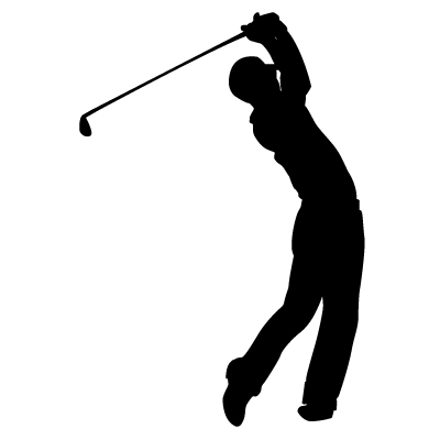 400x400 Golfer Silhouette Vector Free Golf Silhouette Vector Stock