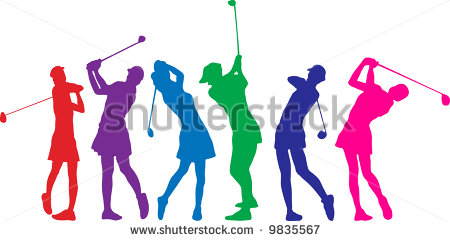450x241 Lady Golfer Silhouette Clipart