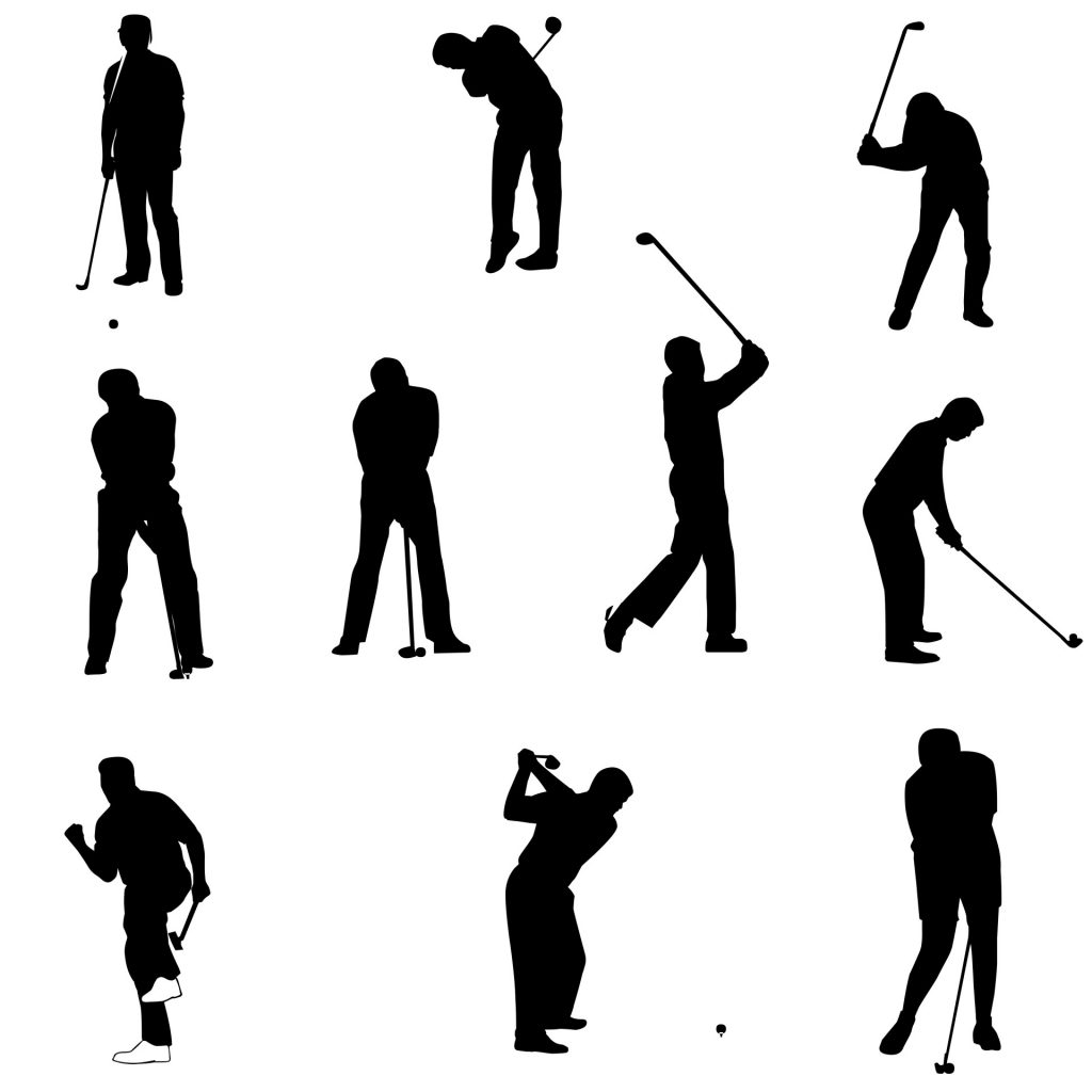 1024x1024 Surprising Golfer Silhouette Vector Free Golf Silhouettes Stock