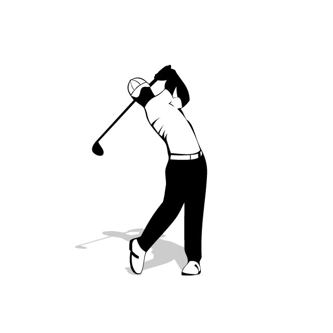 660x660 Golf Player Stock Vector Graphics