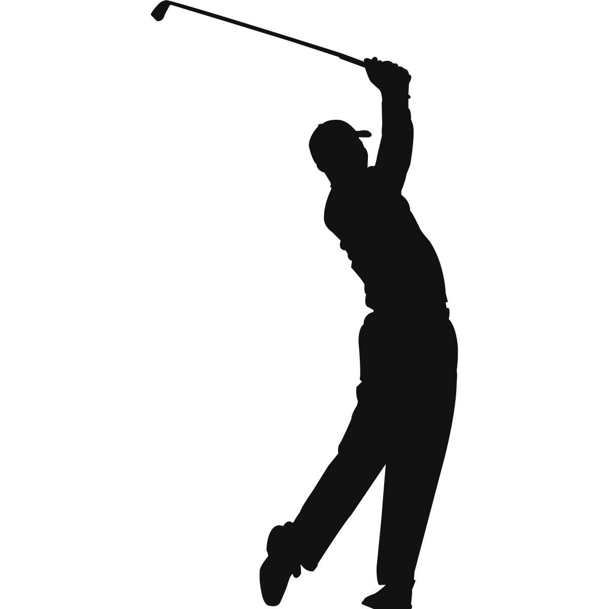 1200x1200 Golf Player Silhouette Golf Club Silhouette Clipart