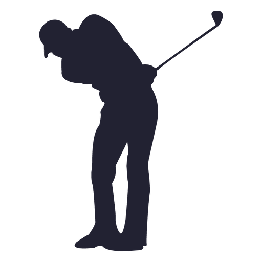 512x512 Golf Player Silhouette