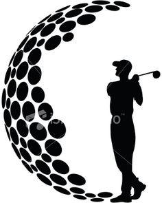236x295 Golfer, Golf Ball, Amp Golf Flag Silhouette My Style