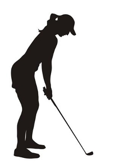 237x330 Female Golfer Silhouette Decal Sticker