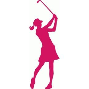 290x290 Female Golfer Silhouette Silhouette Design, Silhouettes And Golf