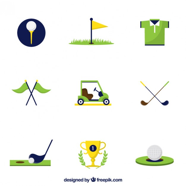 626x626 Golf Icons Vector Free Download
