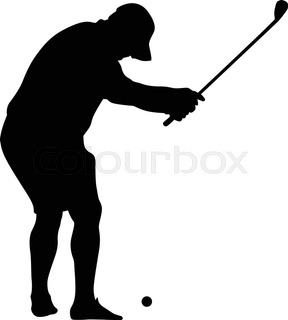 288x320 Golf Player Silhouette Vector Stock Vector Colourbox