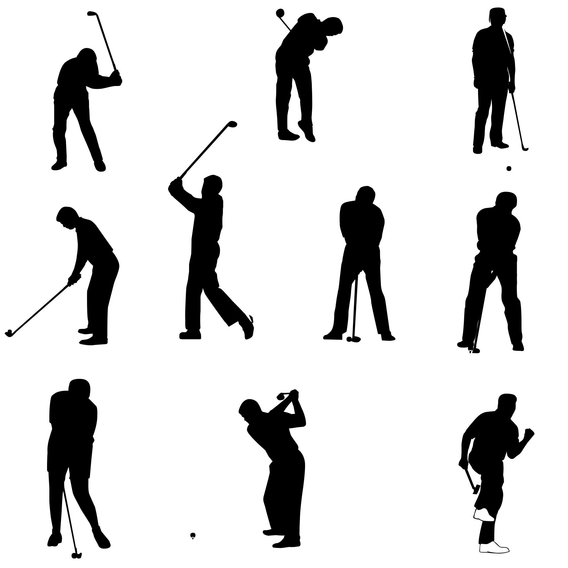 1920x1920 Top Golf Silhouettes Design
