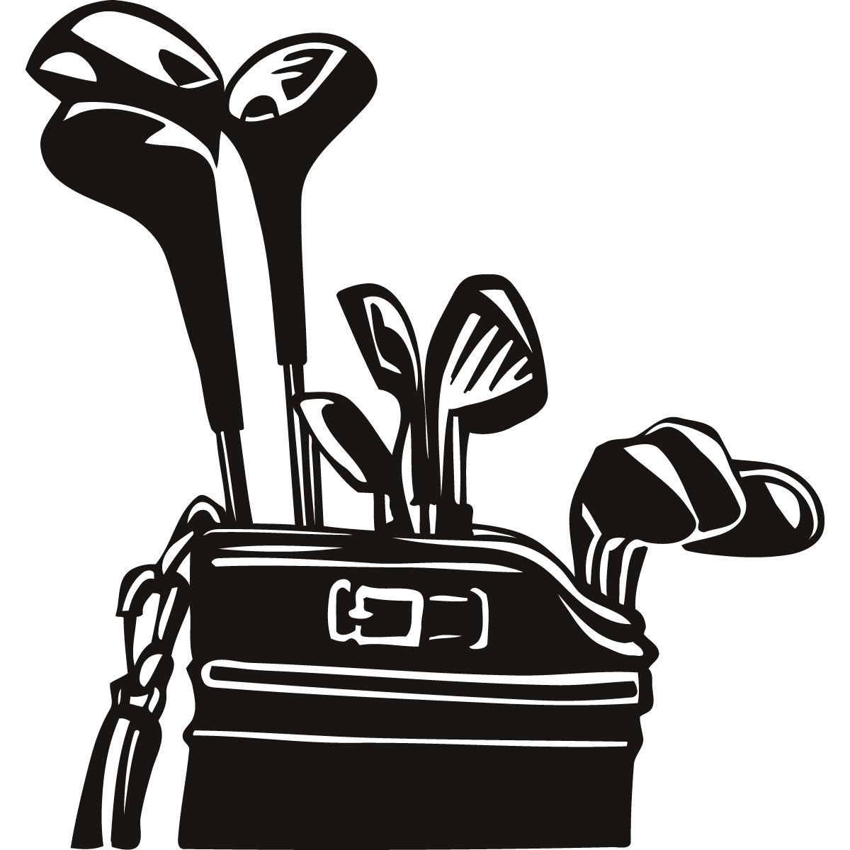 1200x1200 Golf Course Clipart Black And White