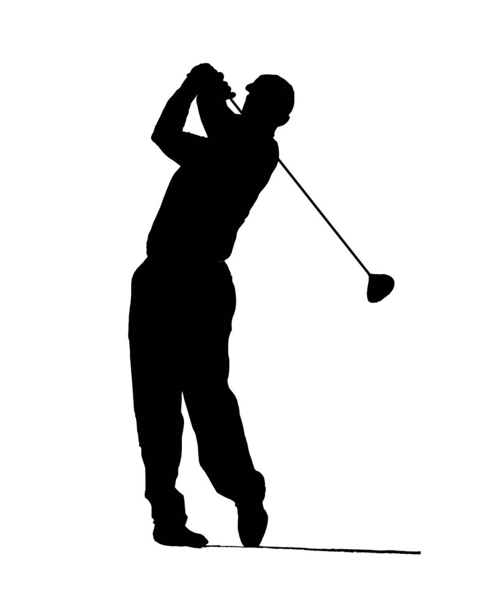 Golf Swing Silhouette At Getdrawings Com Free For