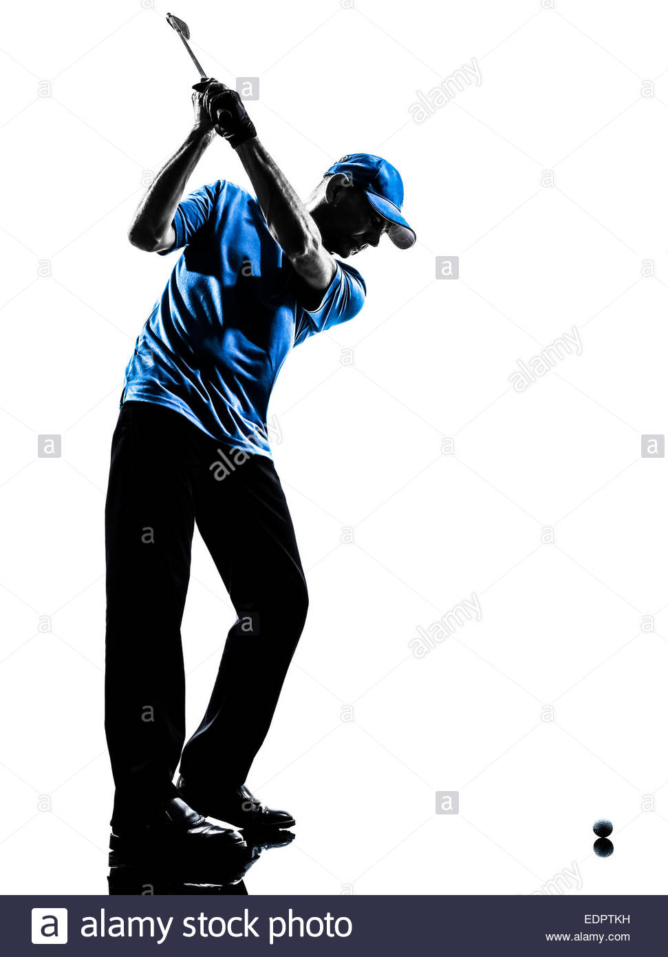 971x1390e Man Golfer Golfing Golf Swing In Silhouette Studio Isolated