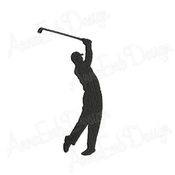 570x570 Golfer Embroidery Design. Golfer Silhouette. Mini Golfer Design