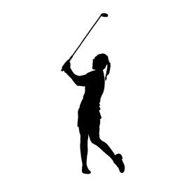 270x270 Golfer Silhouette 01 Stencil Free Stencil Gallery
