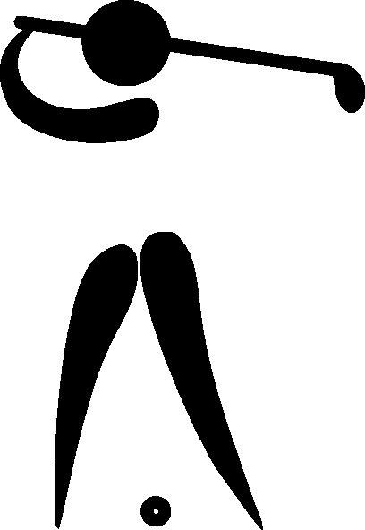 408x592 Golfer Silhouette Clip Art Clipart Panda