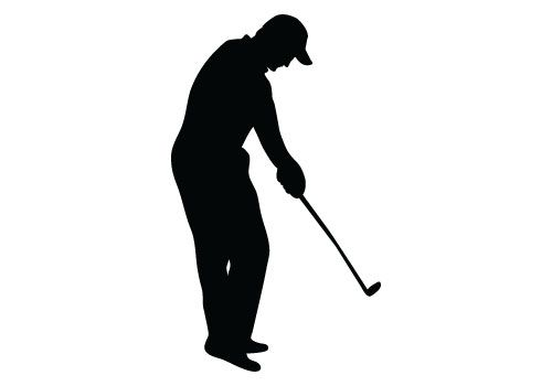 500x350 Golf Player Silhouette Vector Free Download Stuff To Buy