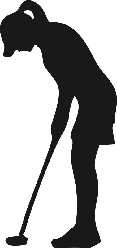 378x800 Female Golfer Silhouette Laser Cut Appliques