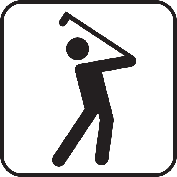 600x600 Golf Silhouette Clipart