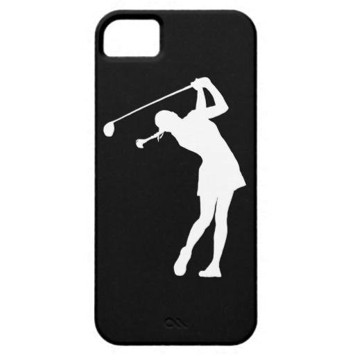 512x512 Lady Golfer Silhouette Clip Art