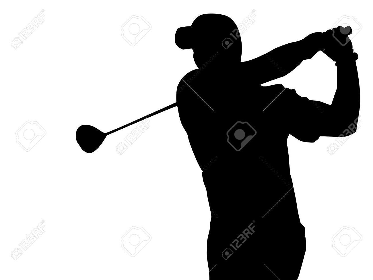 1300x975 Lovely Golfer Silhouette Vector Free Golf Player Download