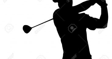 367x195 Golfer Silhouette Clip Art