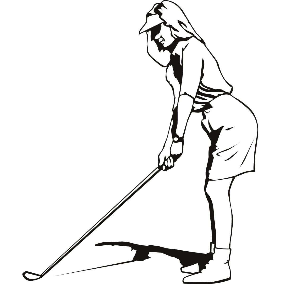 1200x1200 Clip Art Golf Silhouette Clip Art