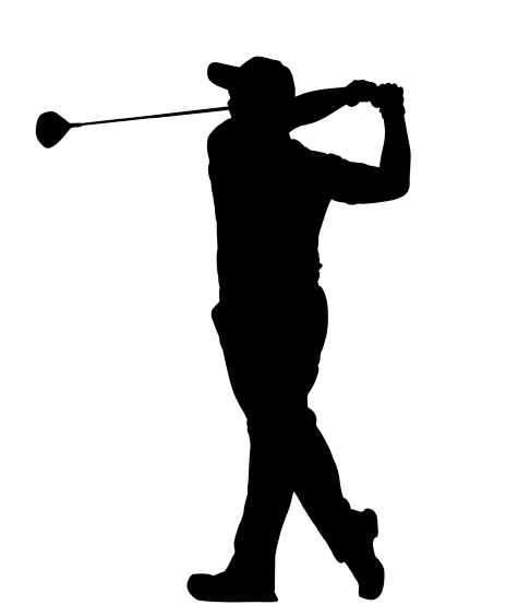 475x554 Golf Player Swing Vector Graphic. Download Golf Swing Silhouette