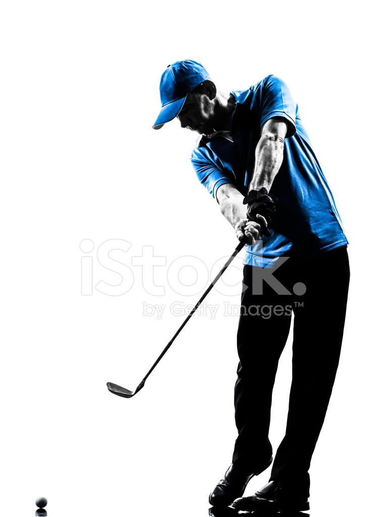 765x1024 Man Golfer Golfing Golf Swing Silhouette Stock Photos