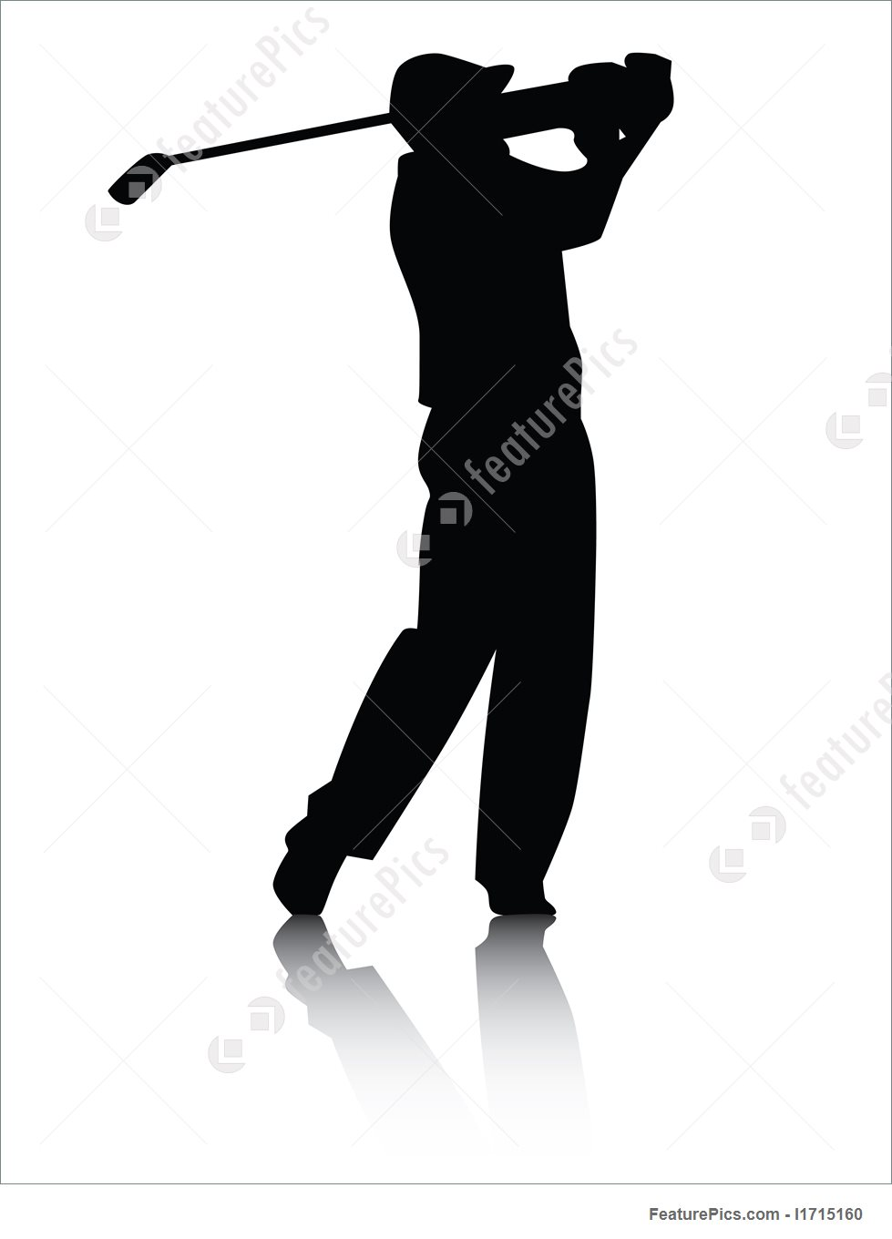 979x1360 Sports And Recreation Golfer Silhouette With Shadow