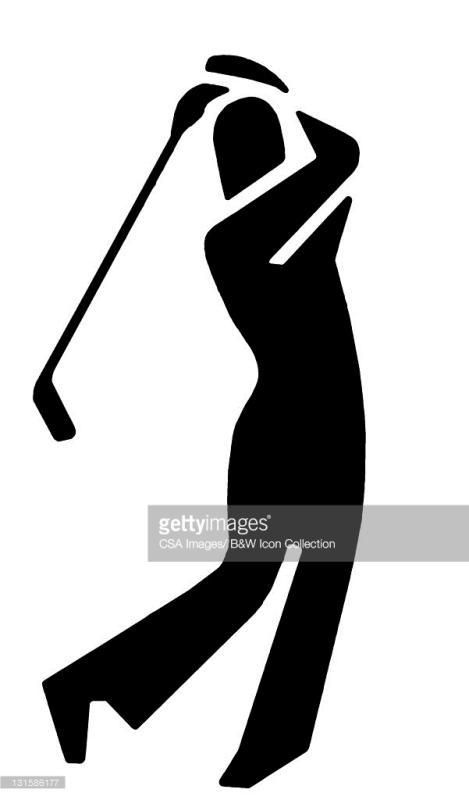 469x800 Golfer Silhouette Clip Art