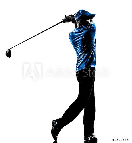462x500 Man Golfer Golfing Golf Swing Silhouette