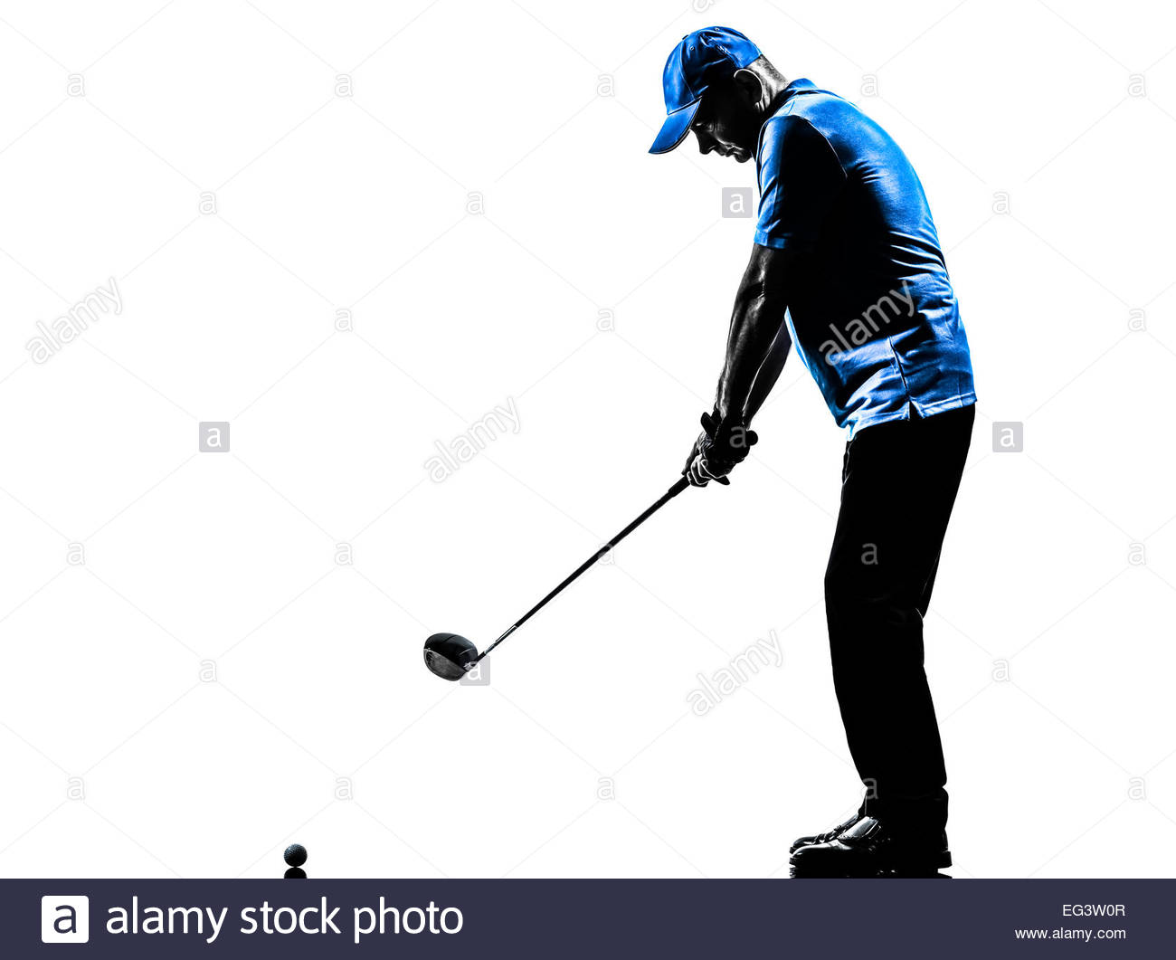 1300x1061e Man Golfer Golfing Golf Swing In Silhouette Studio Isolated