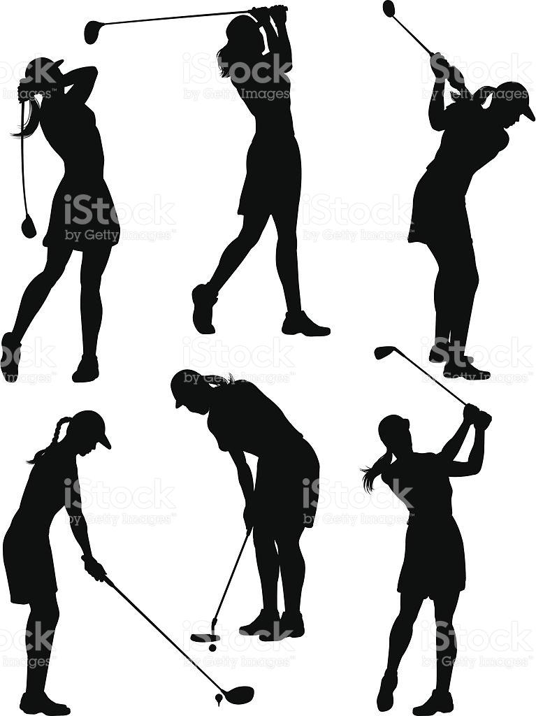 767x1024 Golf Course Clipart Woman Golfer