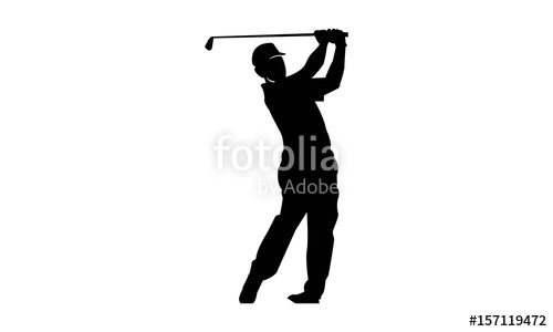 500x300 Golf Player Amp Silhouette Logo Template Stock Image And Royalty