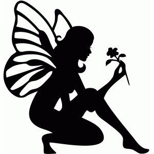 300x300 Free Fairy Silhouette
