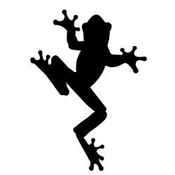 250x250 Frog Silhouette Clipart