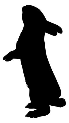 236x418 Rabbit Silhouette