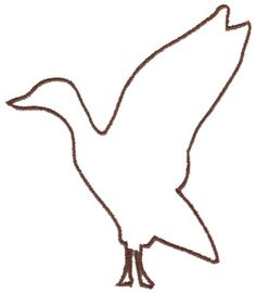 236x270 Goose Flying Template Nap Saint Martin's Day