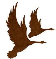 191x200 Flying Geese Silhouettes Stencil