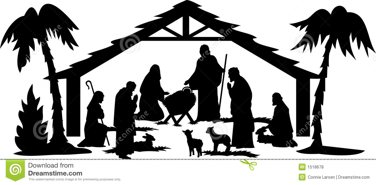 1300x641 Free Nativity Silhouette Clip Art Amp Look At Nativity Silhouette