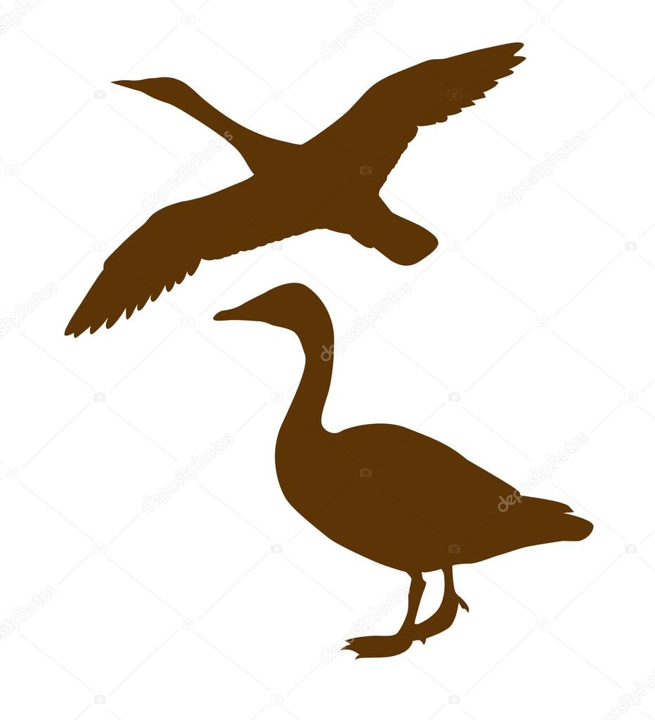 932x1024 26 Images Of Goose Silhouette Decoy Template