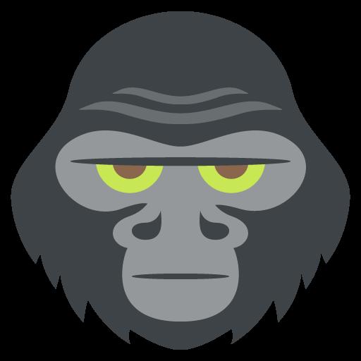 512x512 Gorilla Emoji Vector Icon Free Download Vector Logos Art