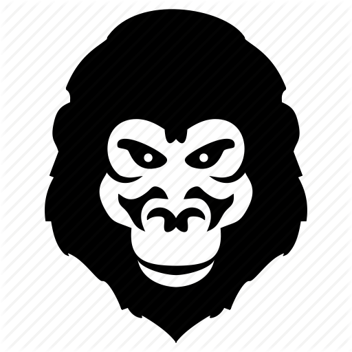 Gorilla Face Silhouette at GetDrawings com | Free for