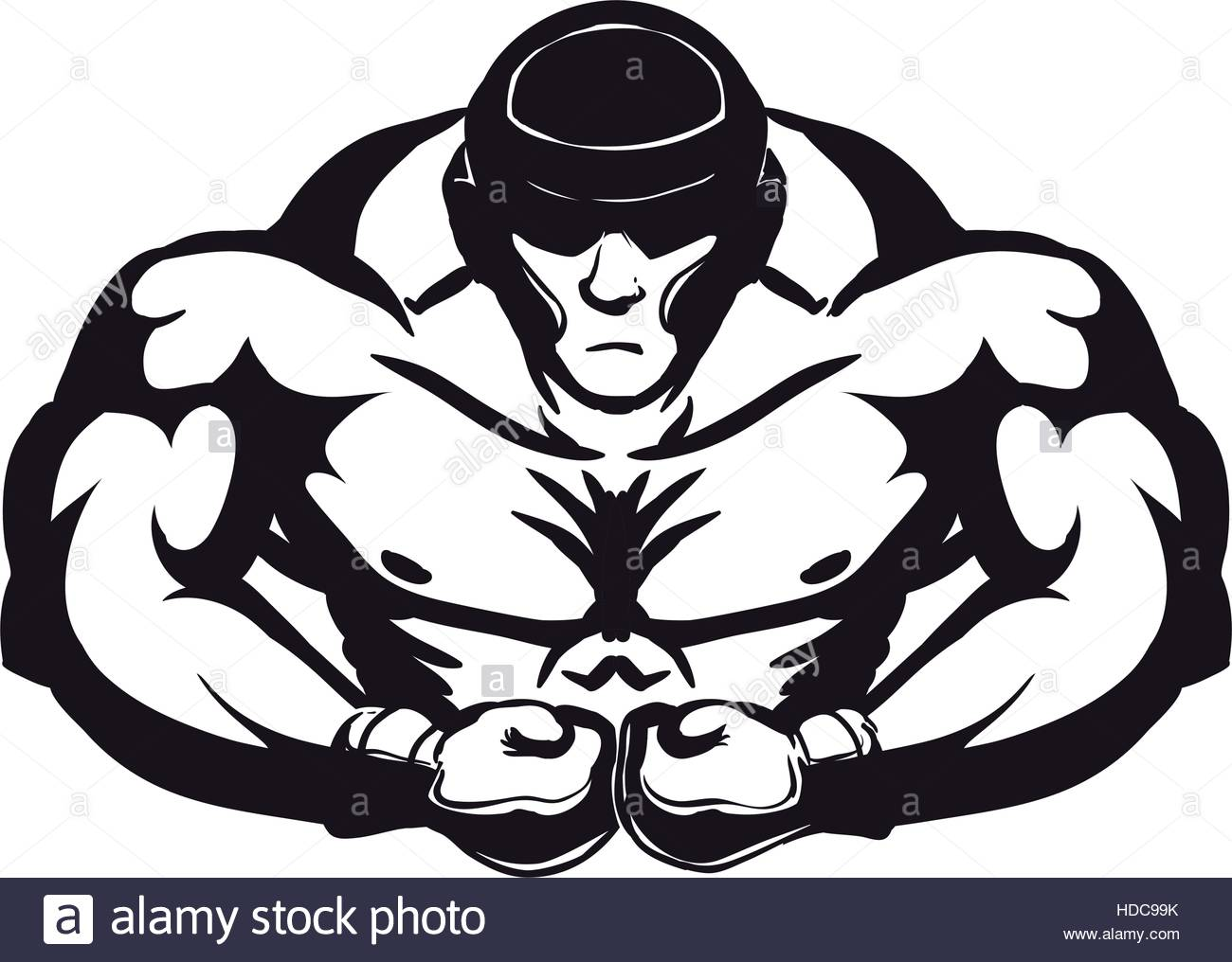 1300x1016 Silhouette Of Muscular Man With Boxing Gloves Icon Over White
